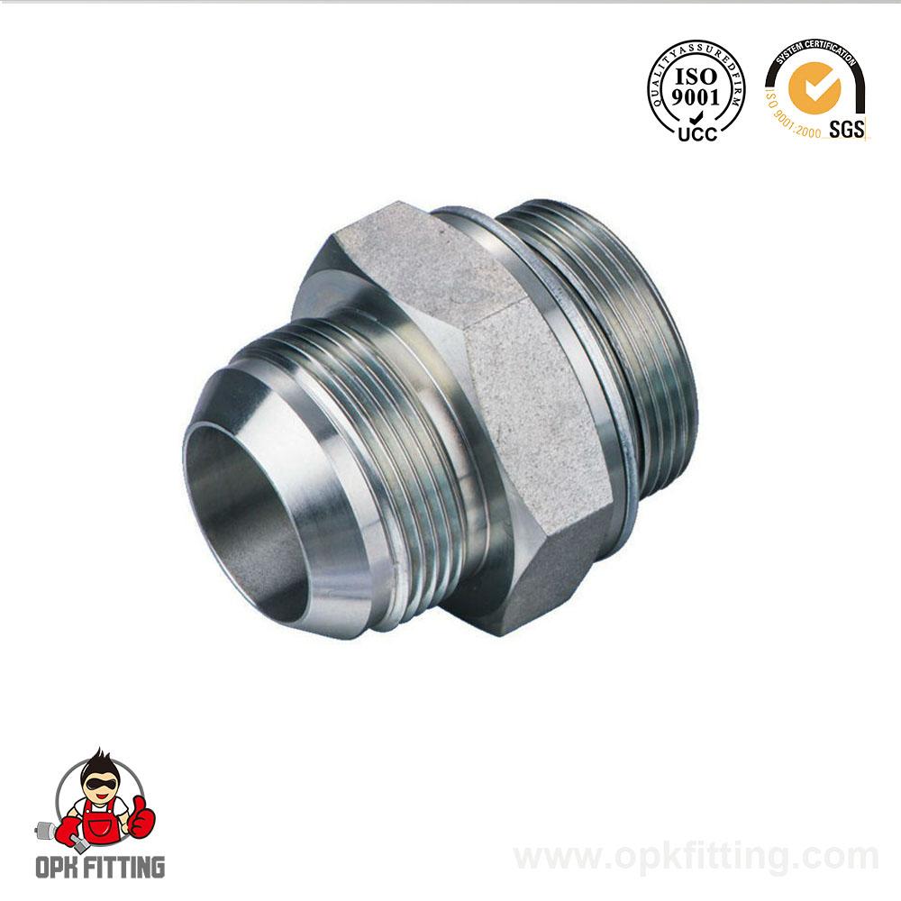 Metric male thread straight tube fittings hydraulic